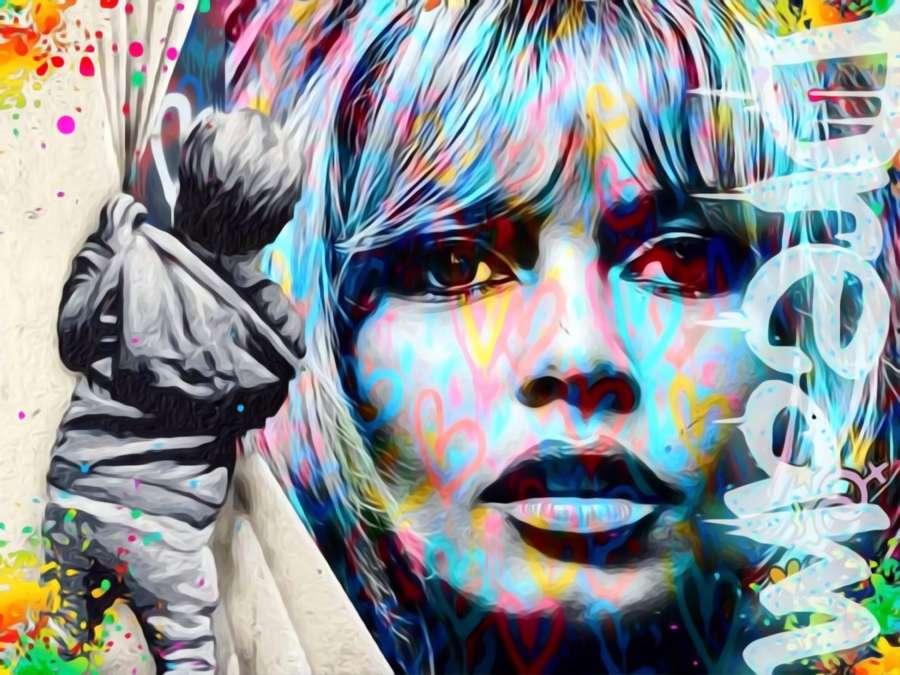 Just Brigitte - Framed Canvas Art Print By OneLife 183