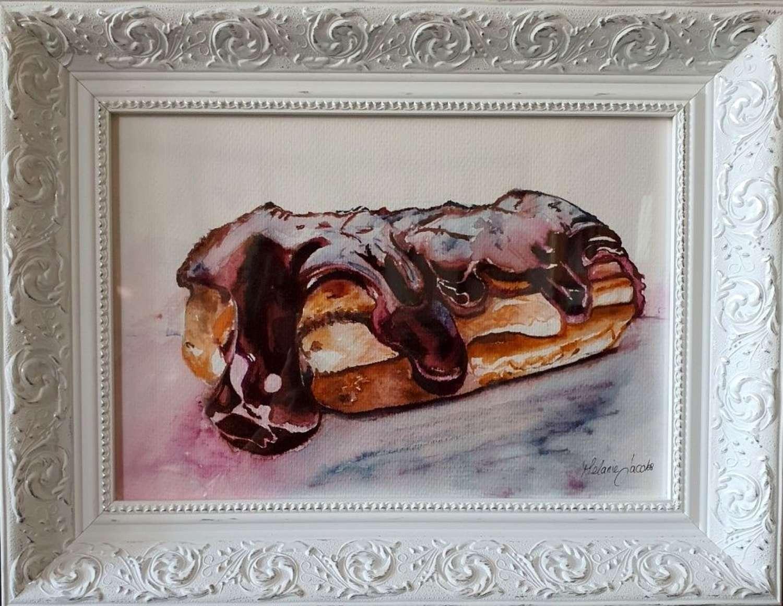'Chocolate Eclair'- Original Watercolour By Melanie Jacobs