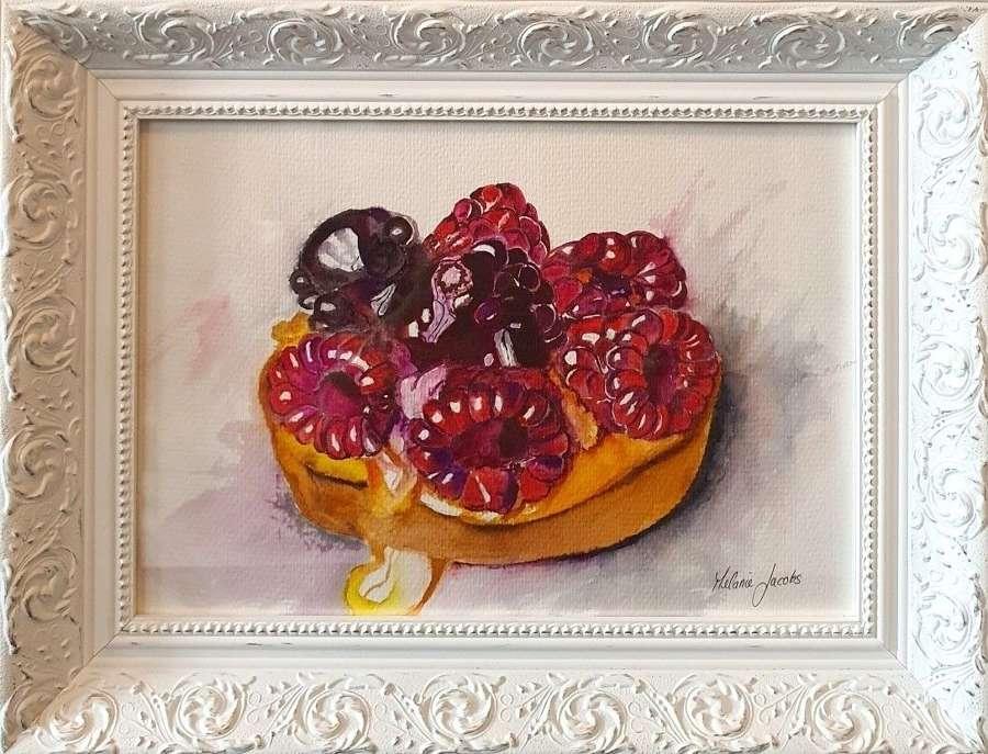 'Raspberry Tart' - Original Watercolour By Melanie Jacobs