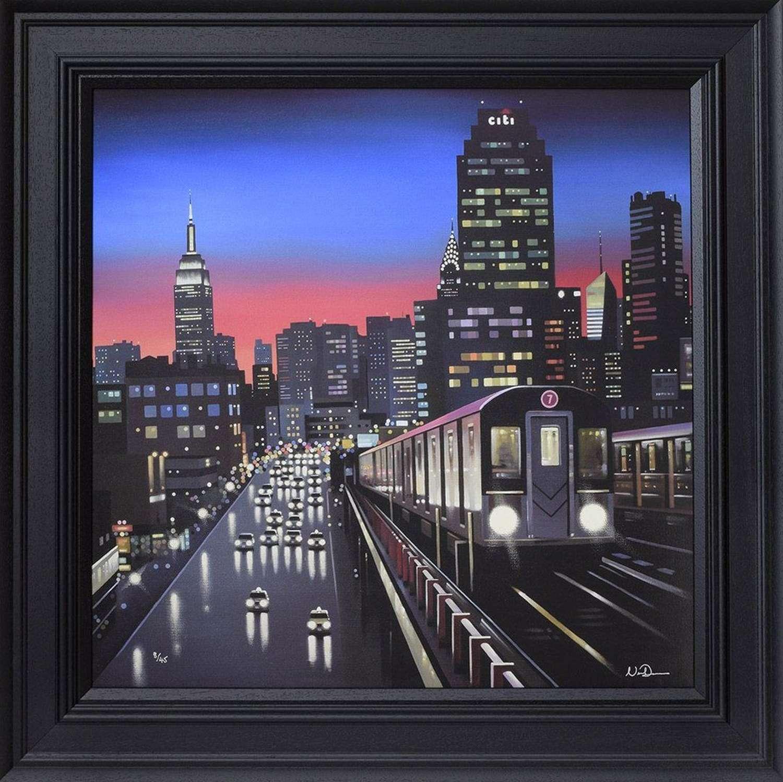 New York Tracks - Framed Canvas Art Print By Neil Dawson