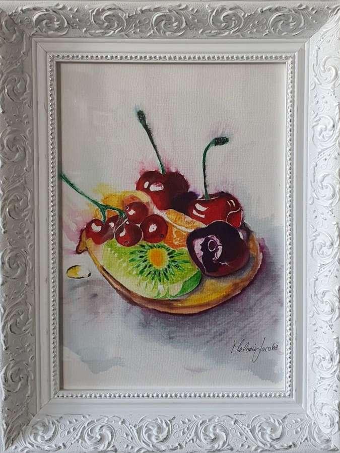 'Fruit Tart' - Original Watercolour By Melanie Jacobs