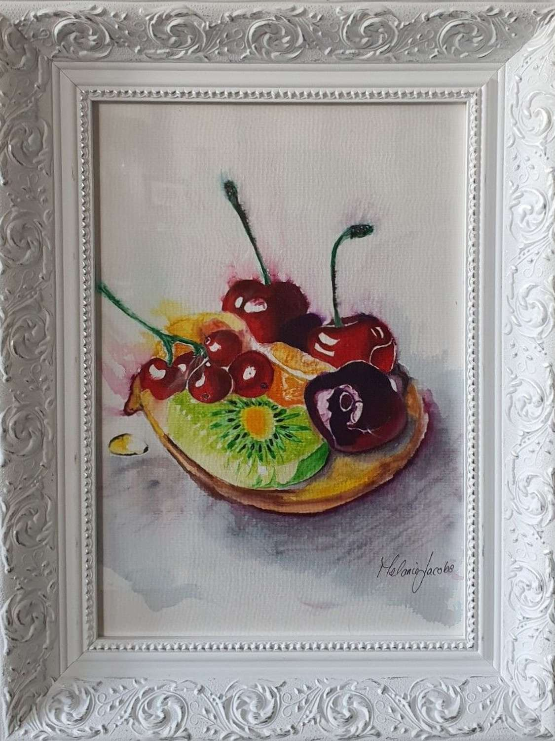 'Fruit Tart' - Original Watercolour By Melanie Jacobs