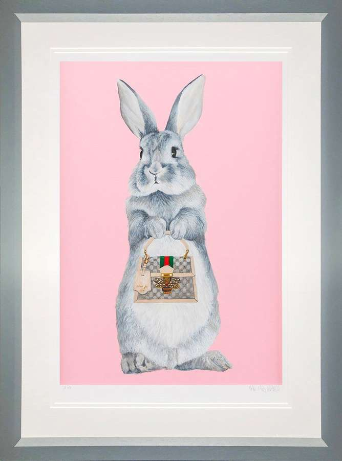 Bunny Girl - Gucci - Framed Art Print By Dean Martin