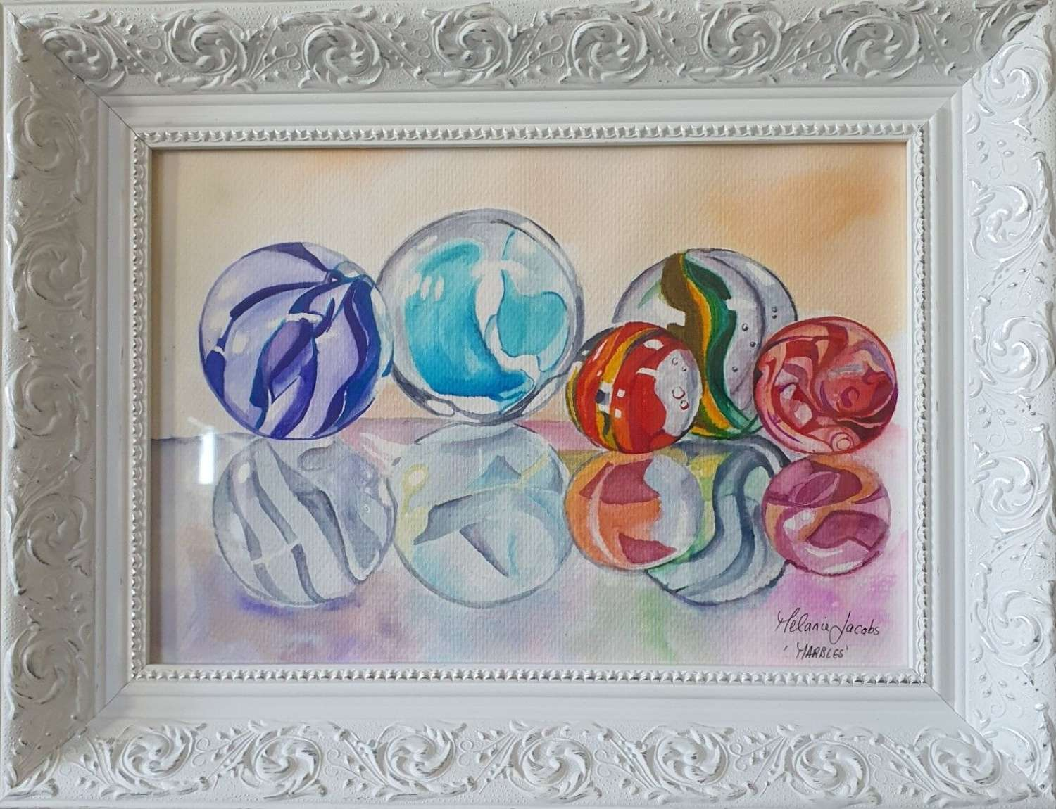 Marbles - Original Watercolour By Melanie Jacobs