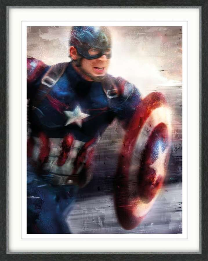 Captain America, I Can Do This All Day Art Print By Mark Davies