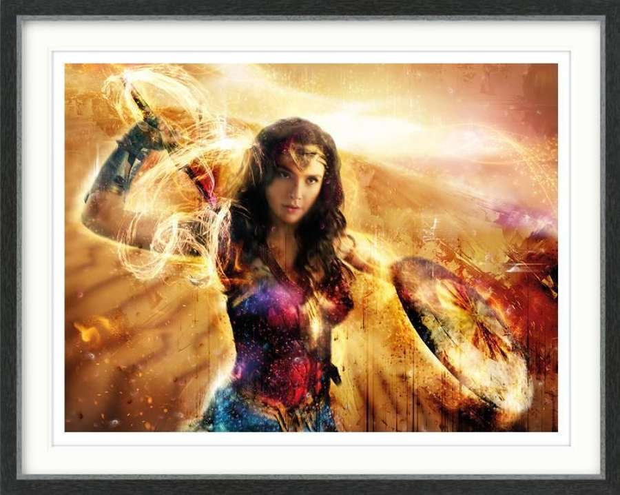 Wonder Woman - Thunderbolts of Jove! Framed Art Print By Mark Davies