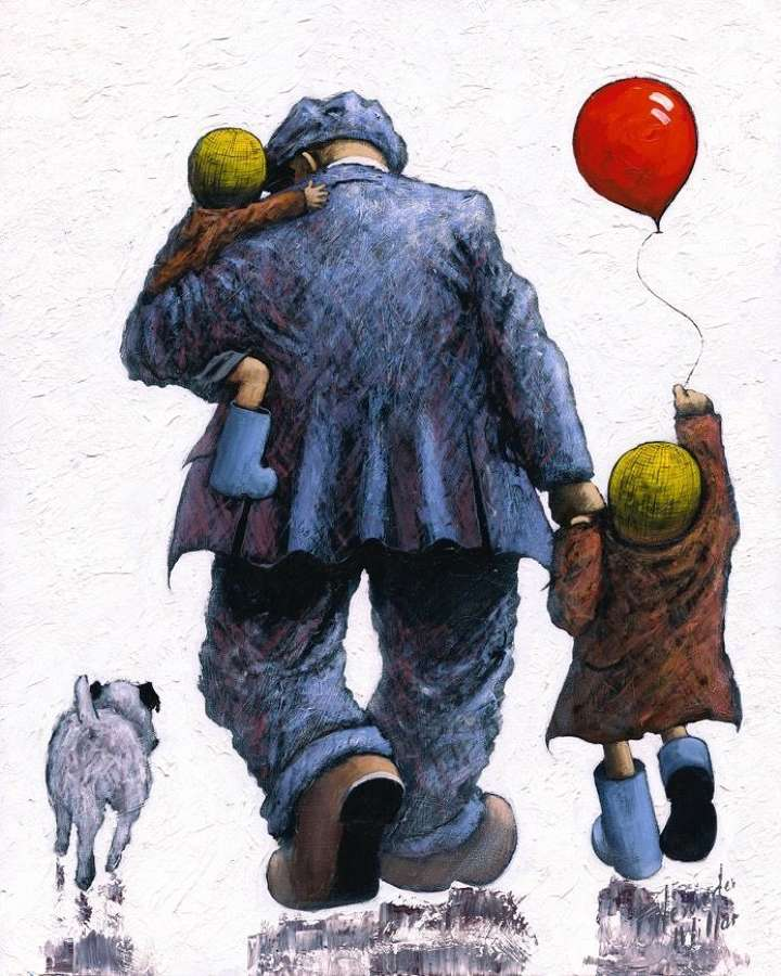 Dad - Framed Art Print By Alexander Millar