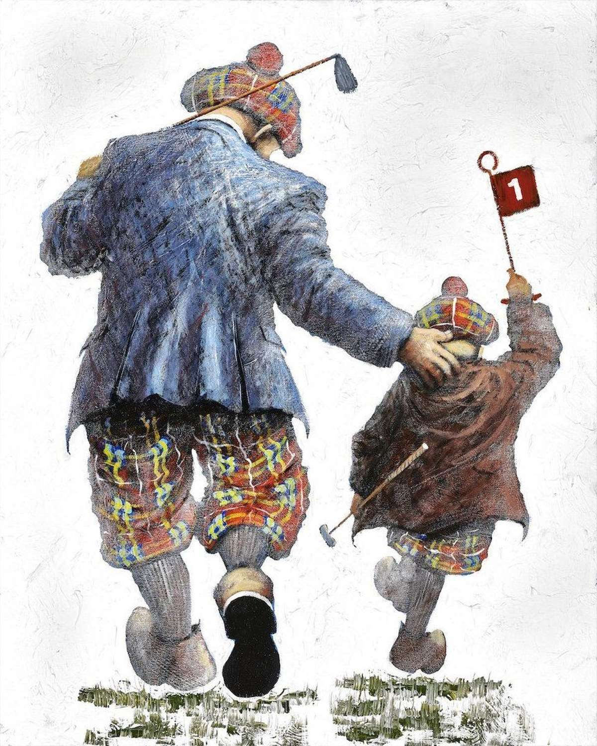 Pitch and Putt - Framed Art Print By Alexander Millar