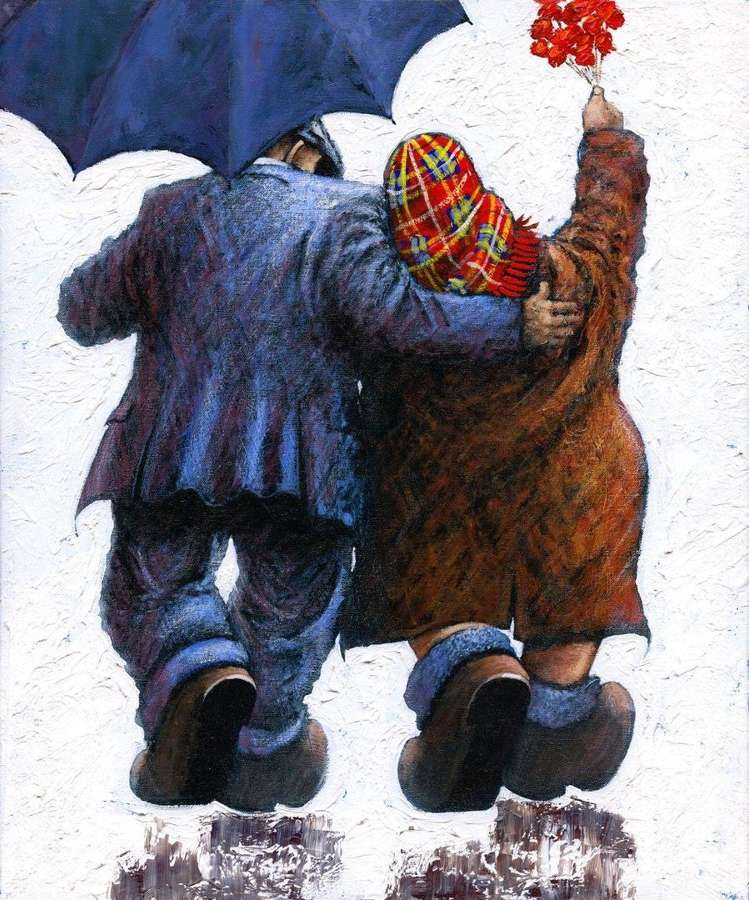 Say It With Flowers - Framed Art Print By Alexander Millar