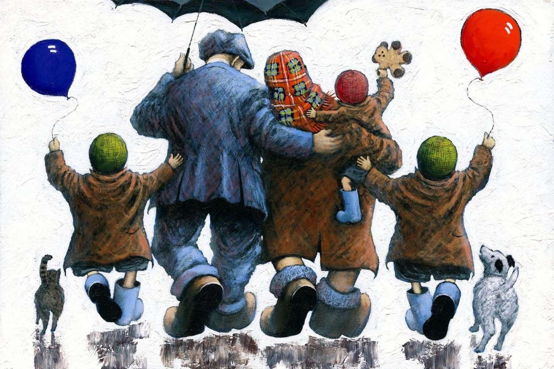 Family - Framed Art Print By Alexander Millar