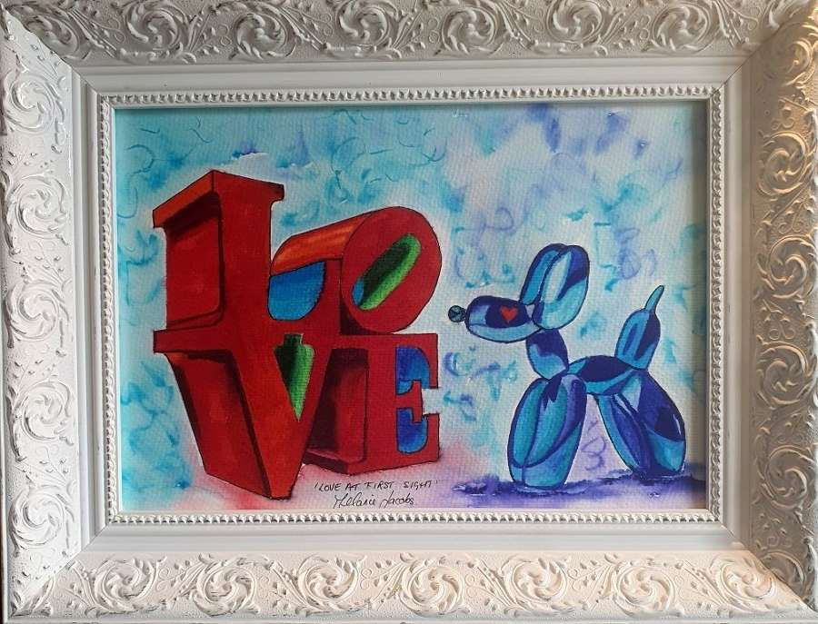 Love At First Sight - Original Watercolour By Melanie Jacobs