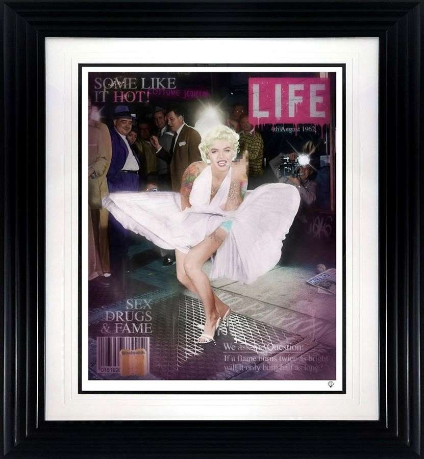 Some Like it Hot - colour - Framed Art Print By JJ Adams