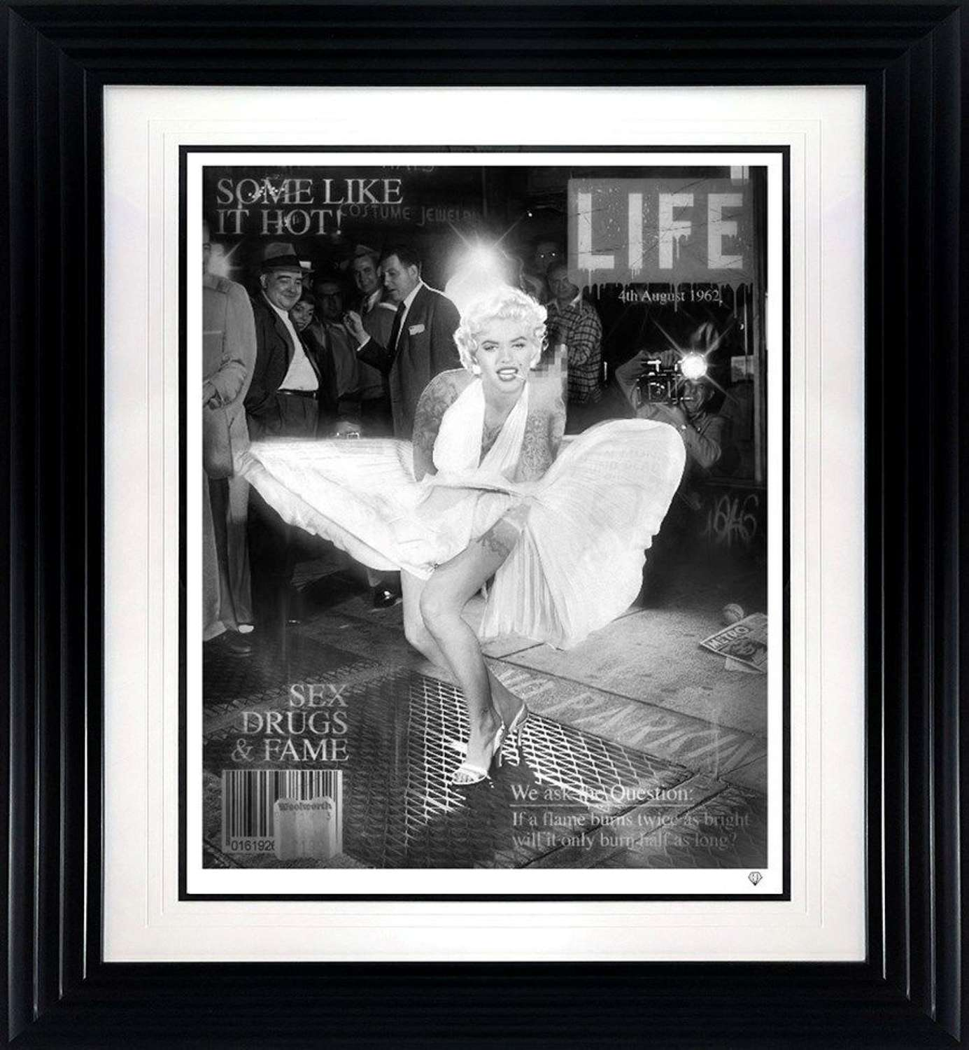 Some Like it Hot - Black and White - Framed Art Print By JJ Adams