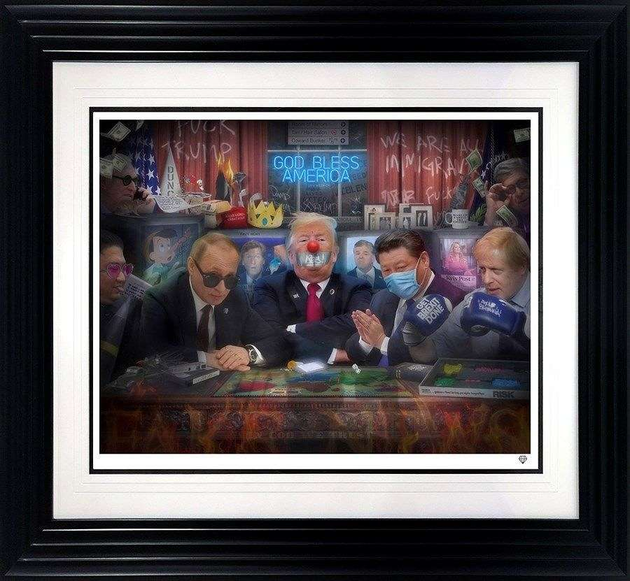 The Great Dicktators - Framed Art Print By JJ Adams