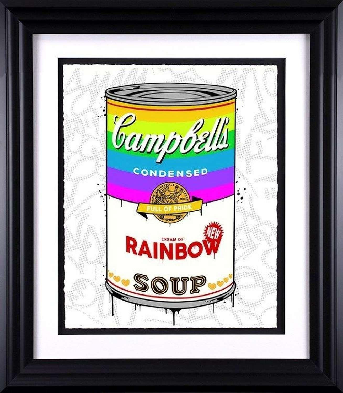 Rainbow Soup - Framed Art Print By JJ Adams