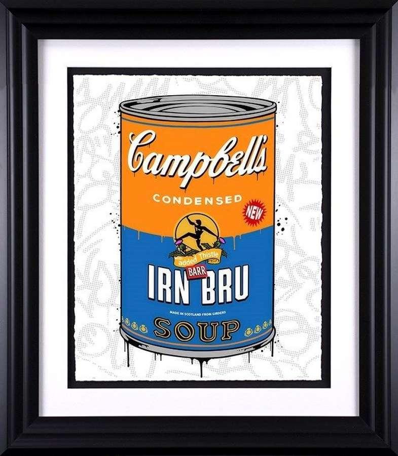 Iron-Bru Soup - Framed Art Print By JJ Adams