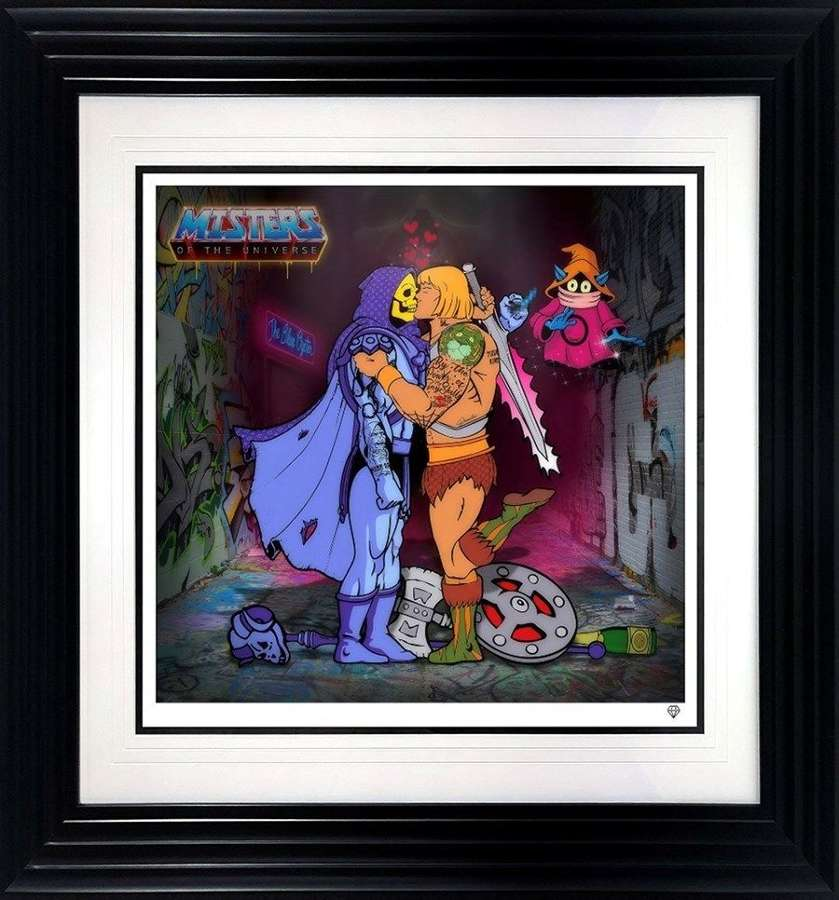 Misters of the Universe - Framed Art Print By JJ Adams