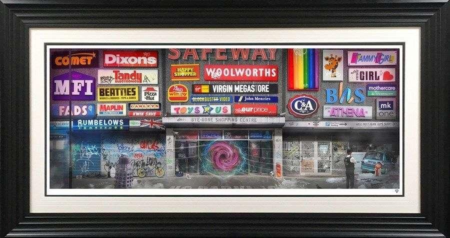 By - Gone Shopping Centre - Framed Art Print By JJ Adams