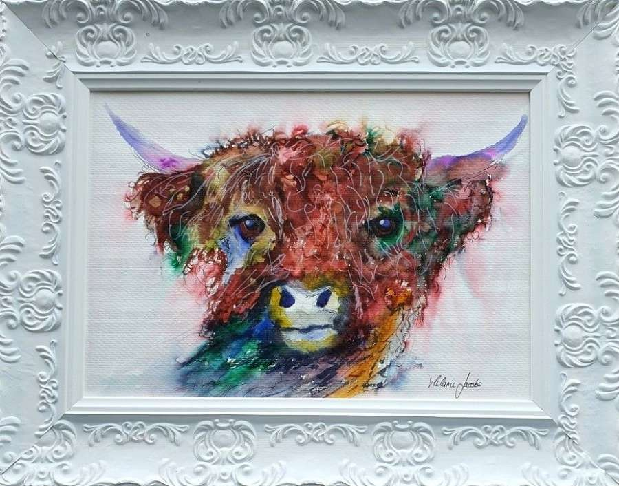 Delilah The Highland Cow - Original Watercolour By Melanie Jacobs