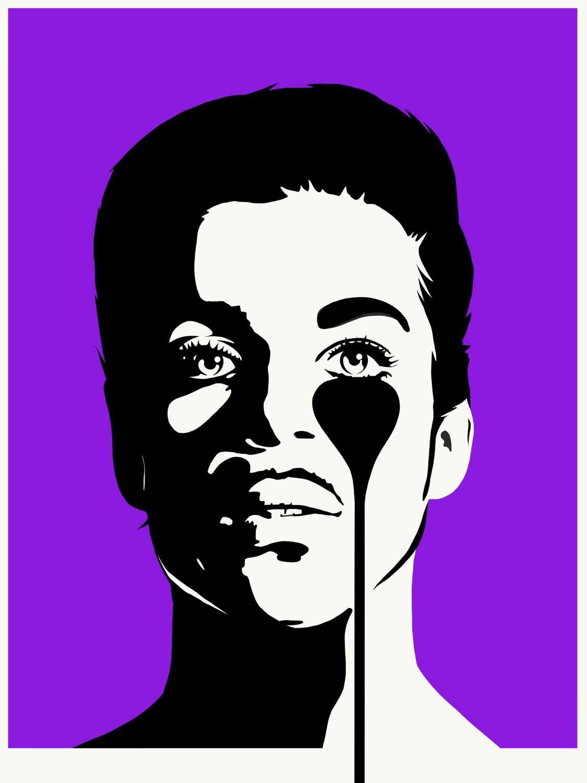 'PRINCE' Purple Rain Art Print by Pure Evil