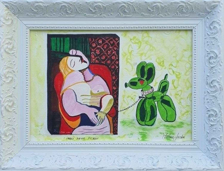 'Pablo Meets Picasso' - Original Watercolour By Melanie Jacobs