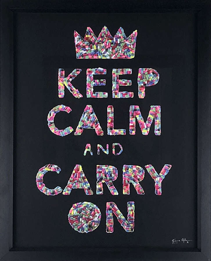 Keep Calm - Framed Art Print By Emma Gibbons
