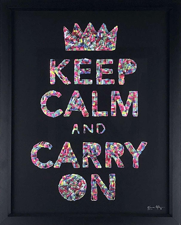 Keep Calm - Framed Art Print By Emma Gibbons