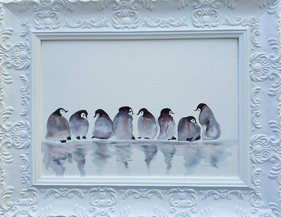 'Huddle Closer' - Original Watercolour By Melanie Jacobs