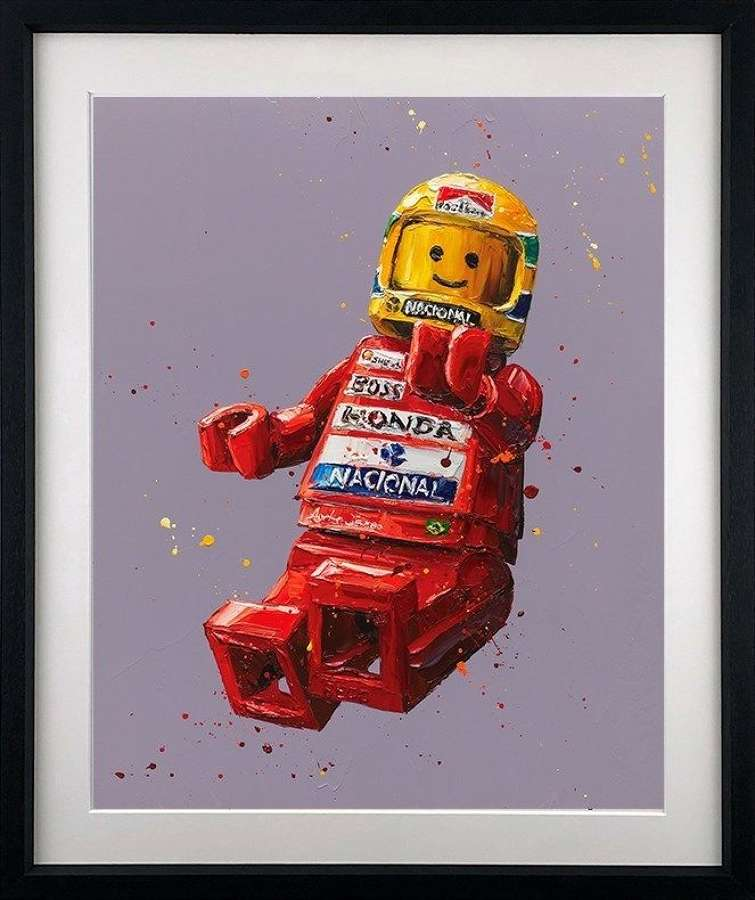 Senna Lego - Framed Paper Art Print By Paul Oz