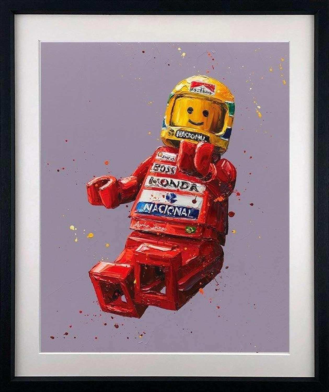 Senna Lego - Framed Paper Art Print By Paul Oz