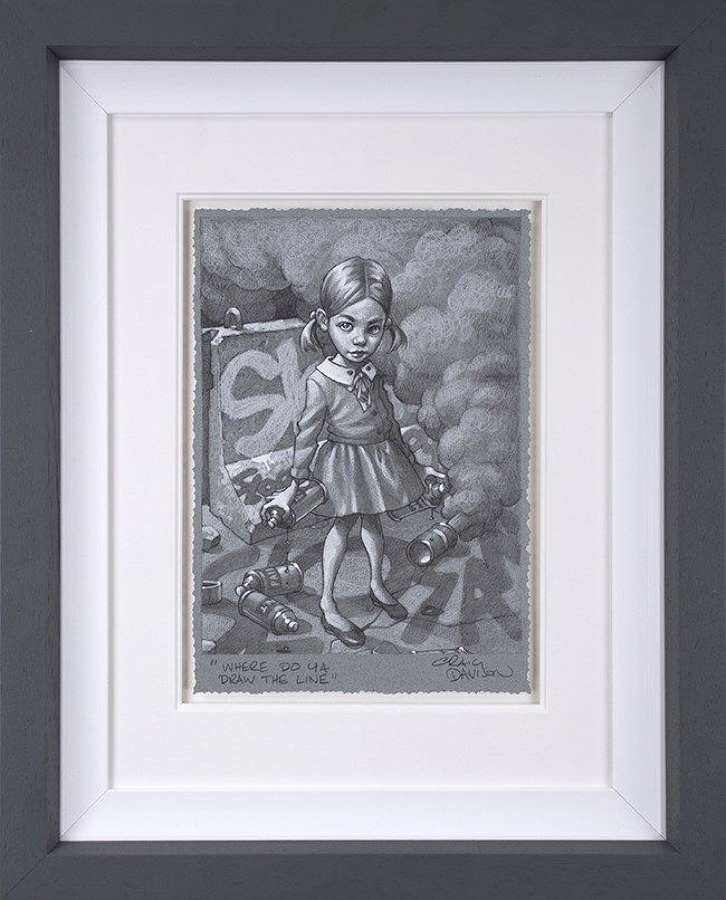 Where Do Ya Draw The Line Sketch Framed Art Print Craig Davison