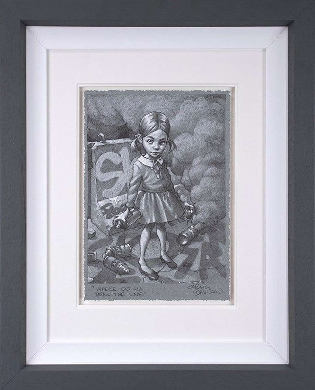 Where Do Ya Draw The Line Sketch Framed Art Print Craig Davison