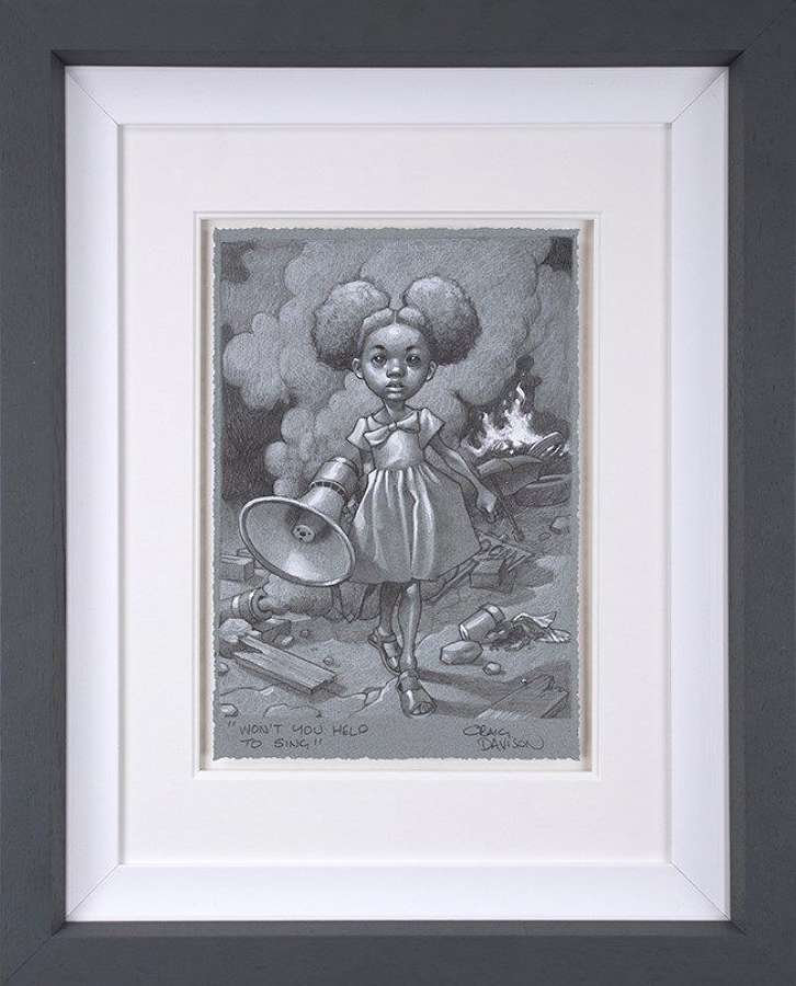 Won't You Help To Sing? Sketch - Framed Art Print  by Craig Davison