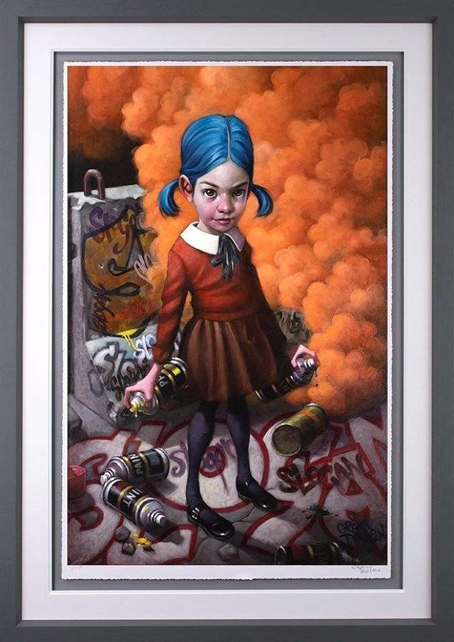 Where Do Ya Draw The Line - Framed Art Print by Craig Davison