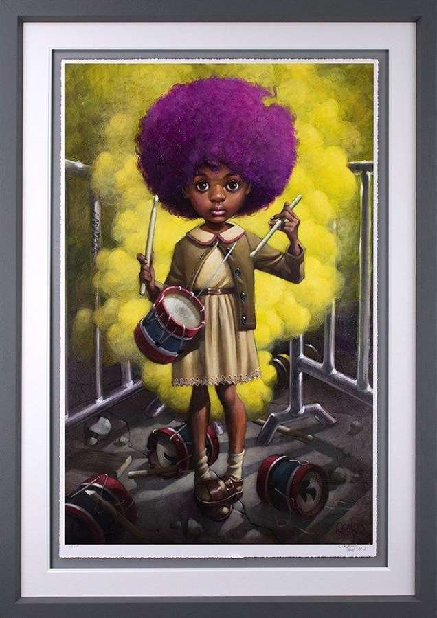 Sound of the Funky Drummer - Framed Art Print by Craig Davison