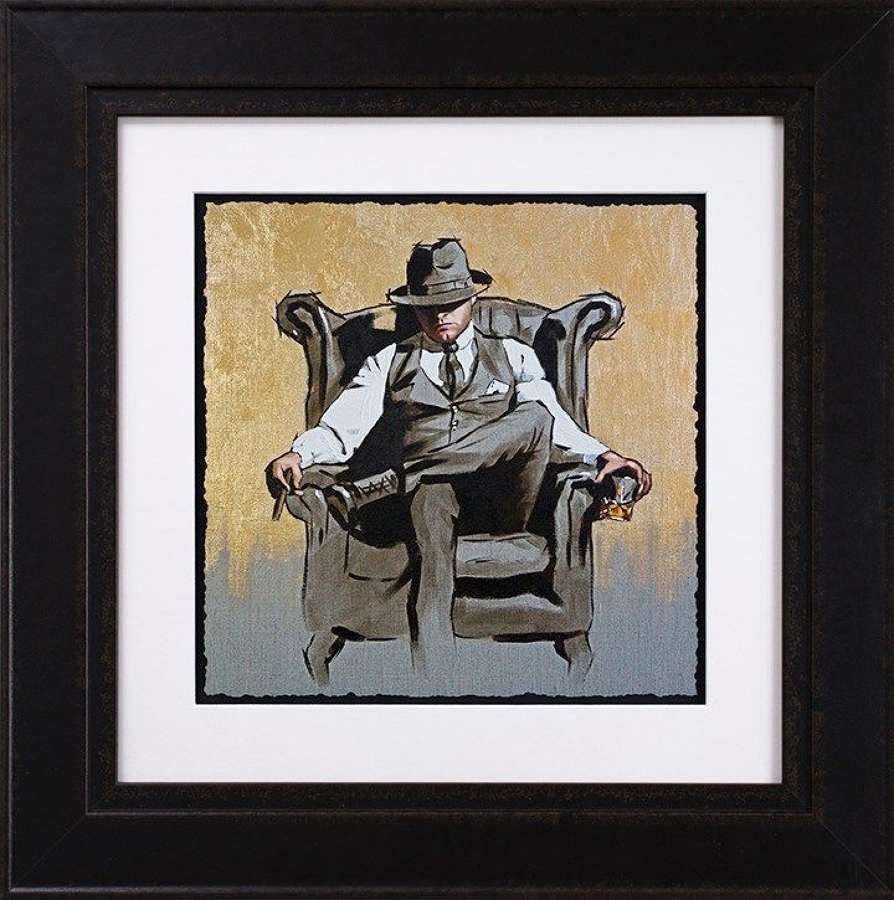 Self Made Man II - Gold Leaf Edition Framed Art Print Richard Blunt