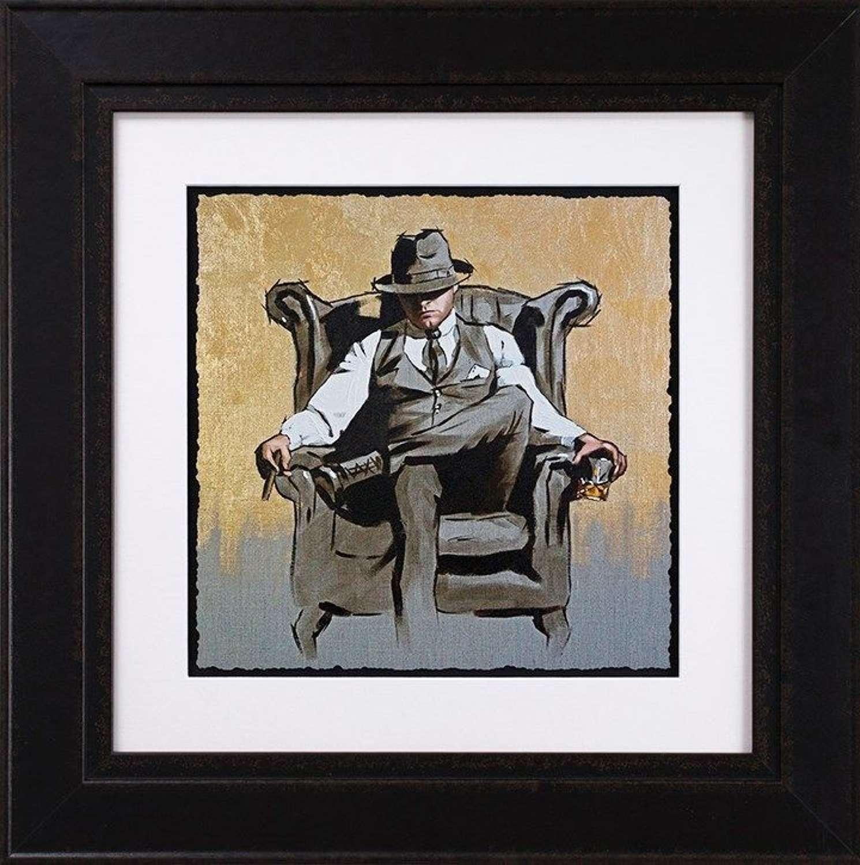Self Made Man II - Gold Leaf Edition Framed Art Print Richard Blunt