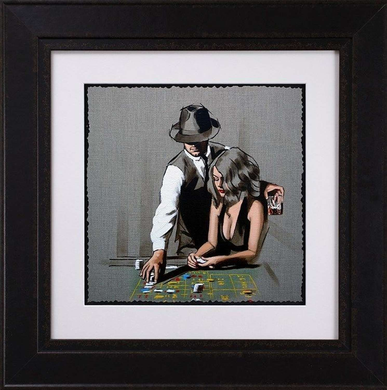 High Rollers - Sketch - Framed Art Print By Richard Blunt
