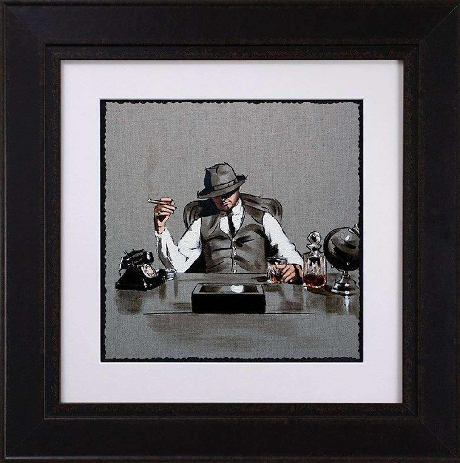 The Boss - Sketch - Framed Art Print By Richard Blunt