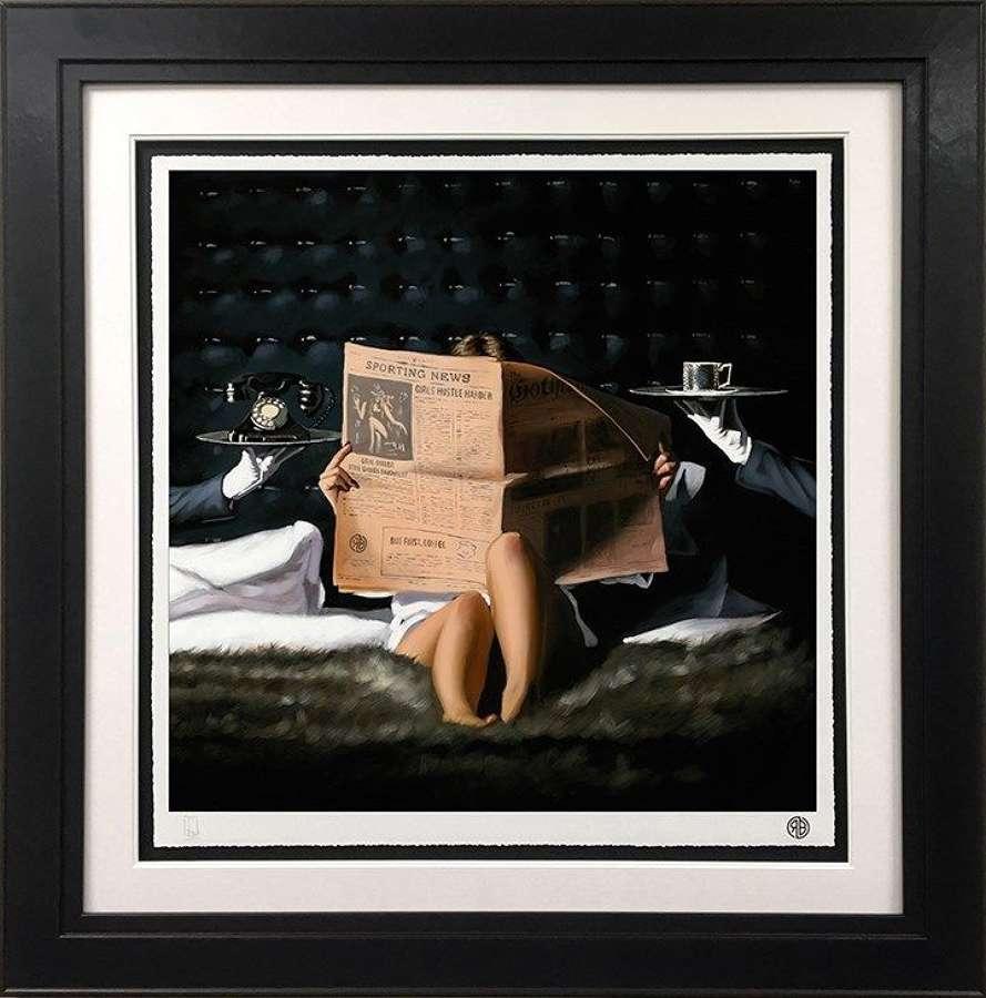 Run the World - Framed Art Print By Richard Blunt