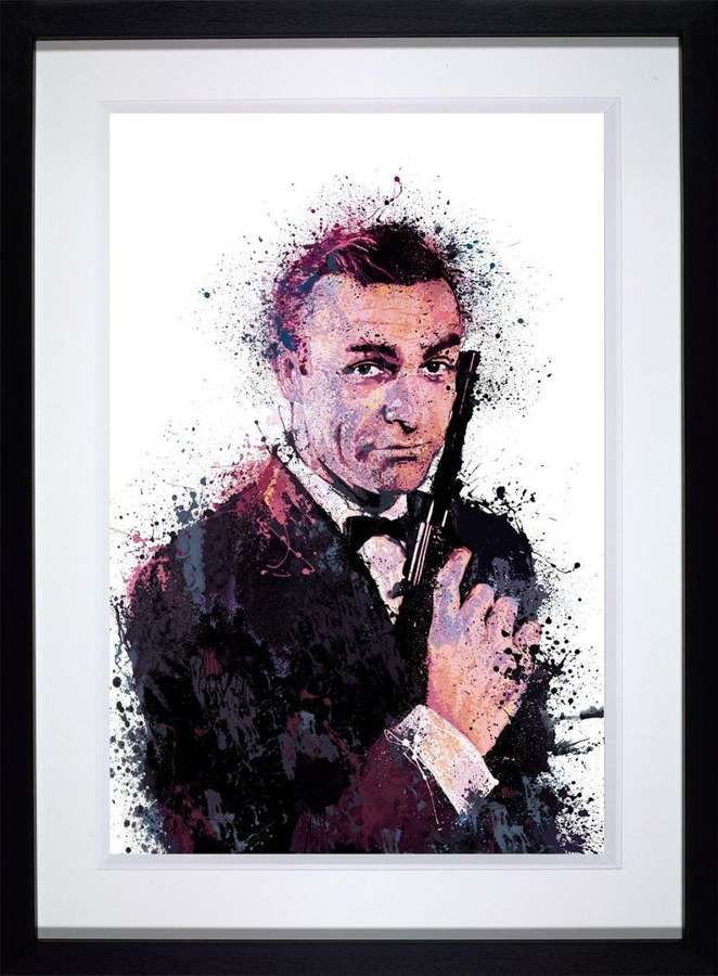 007- With Love - Framed Art Print by Daniel Mernagh