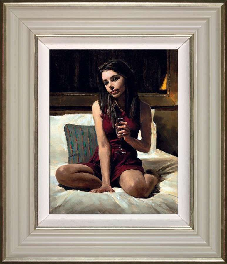Bella - Framed Canvas Art Print by Fabian Perez