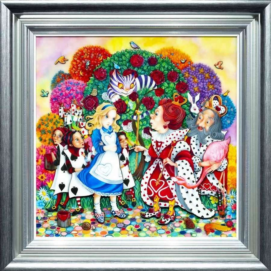 Alice In the Rose Garden Framed Art Print By Kerry Darlington