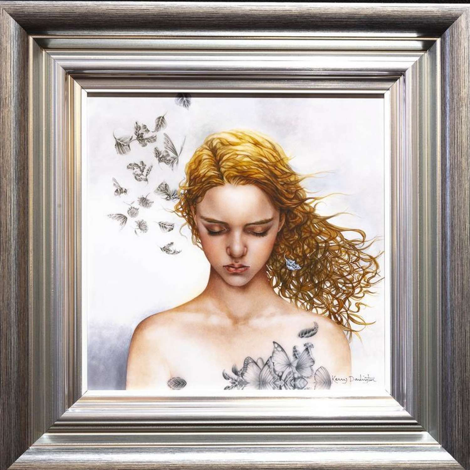 Becoming Nobody - Framed Art Print By Kerry Darlington
