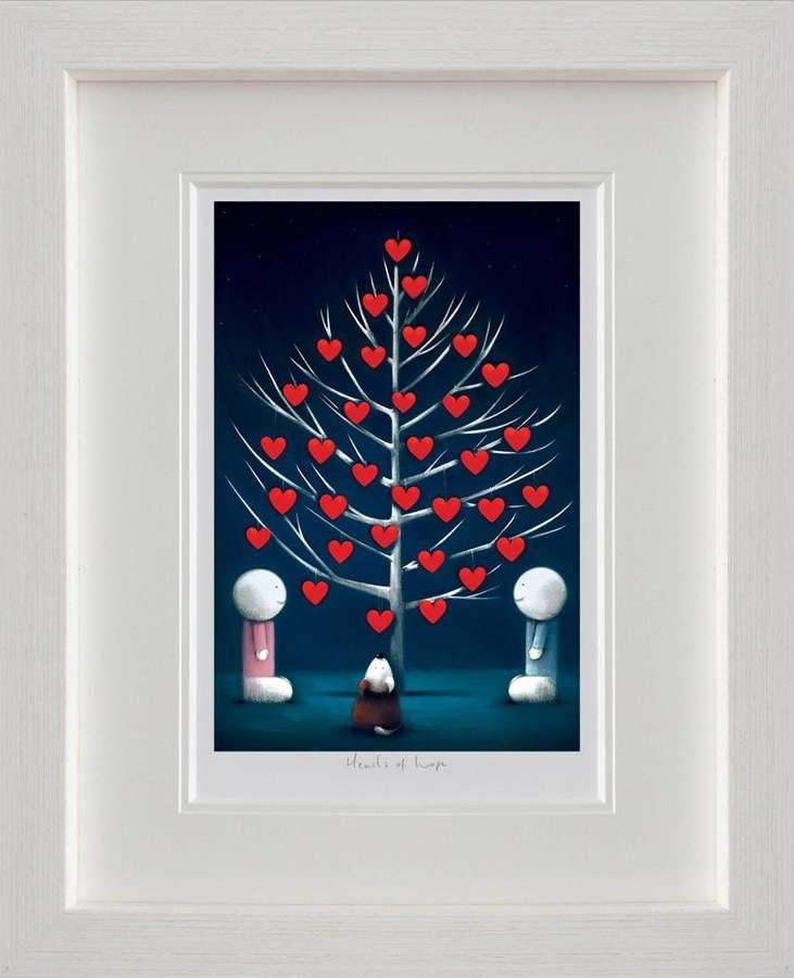 Hearts of Hope - Framed Art Print By Doug Hyde