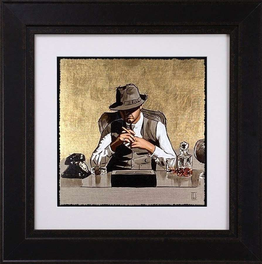 The Boss - Gold - Framed Art Print By Richard Blunt
