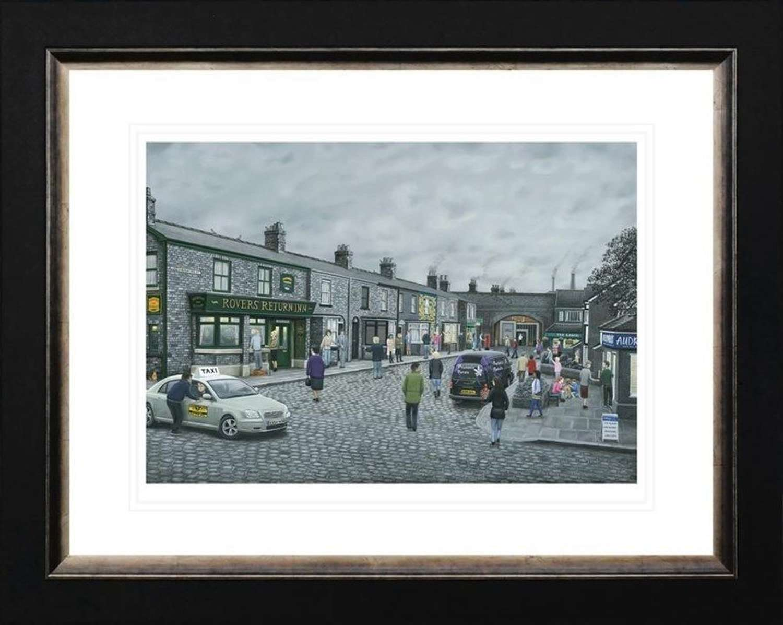 On The Cobbles - Framed Art Print By Leigh Lambert