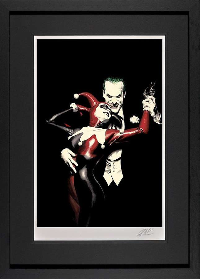 Tango With Evil - DC Legends Framed Art Print by Alex Ross