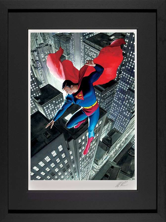 Superman Twentieth Century - DC Legends Framed Art Print by Alex Ross