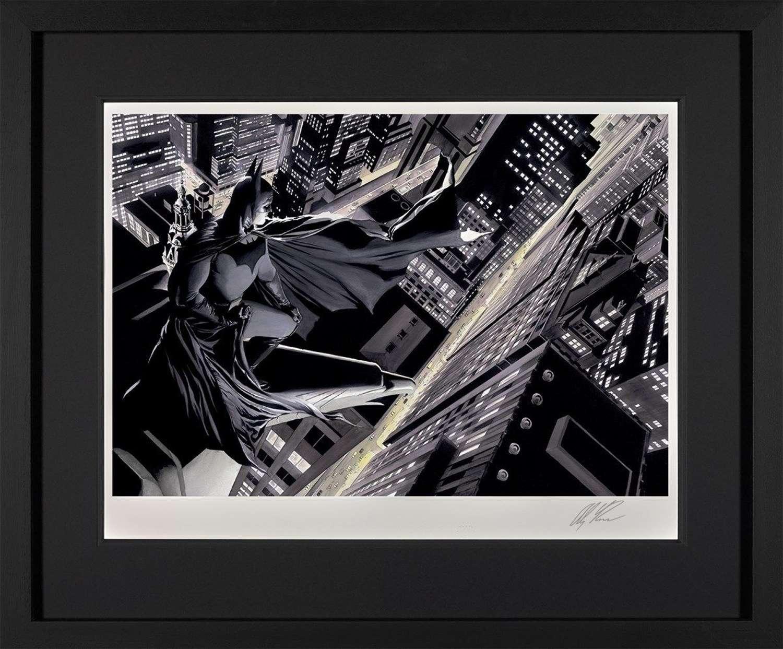 Batman: Knight Over Gotham - DC Legends Framed Art Print by Alex Ross